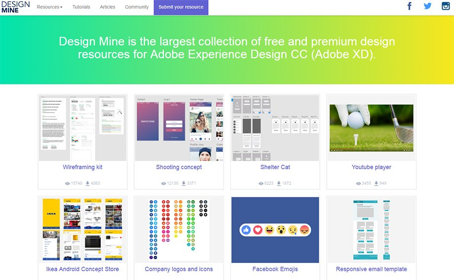 Best Adobe XD Resource Websites For Freebies & Tutorials