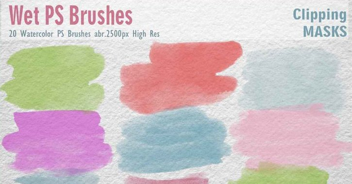 Top Free Photoshop Watercolor Brushes for Designers