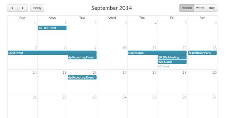 Calendar Design Using Jquery : Best free calendar datepicker jquery plugins