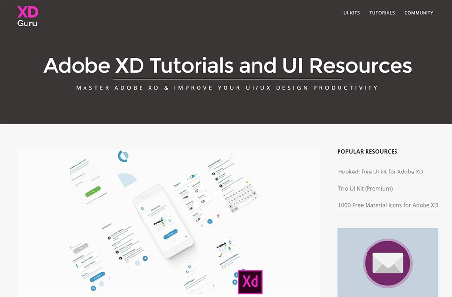 best adobe xd resource websites for freebies  u0026 tutorials