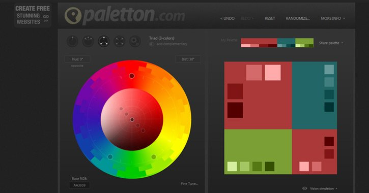 paletton webapp