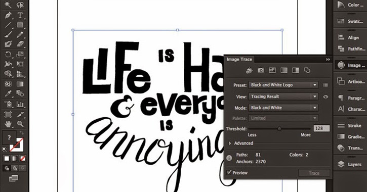 live image trace illustrator