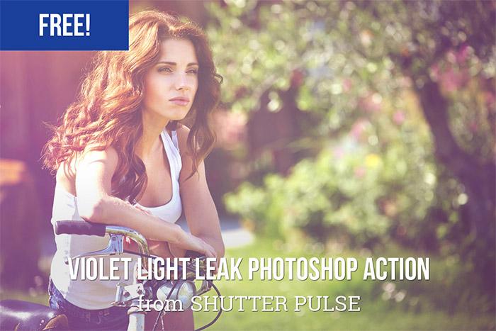 Violet Light Leak Action