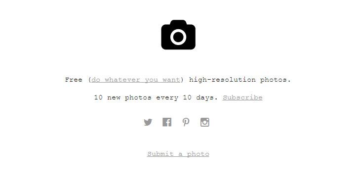 unsplash stock photo website