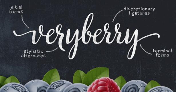 12-veryberry-script-typeface-font
