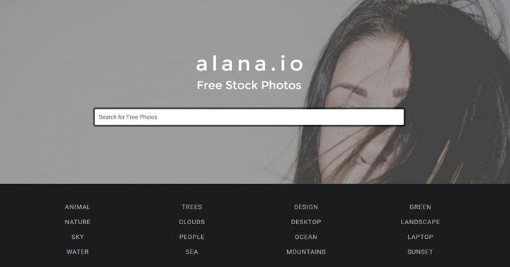 alana stock photo website