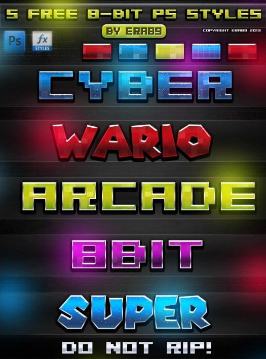 8-Bit Photoshop Styles
