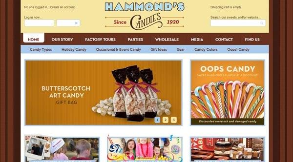 30  yummy dessert and candy website designs