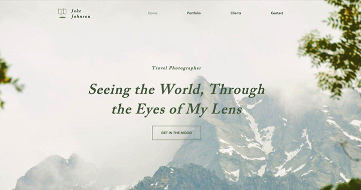 Travel Photography Nature Inspired Website