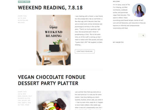 Visual Inspiration: Top 15 Vegan Recipe Blogs With Beautiful Clean Design