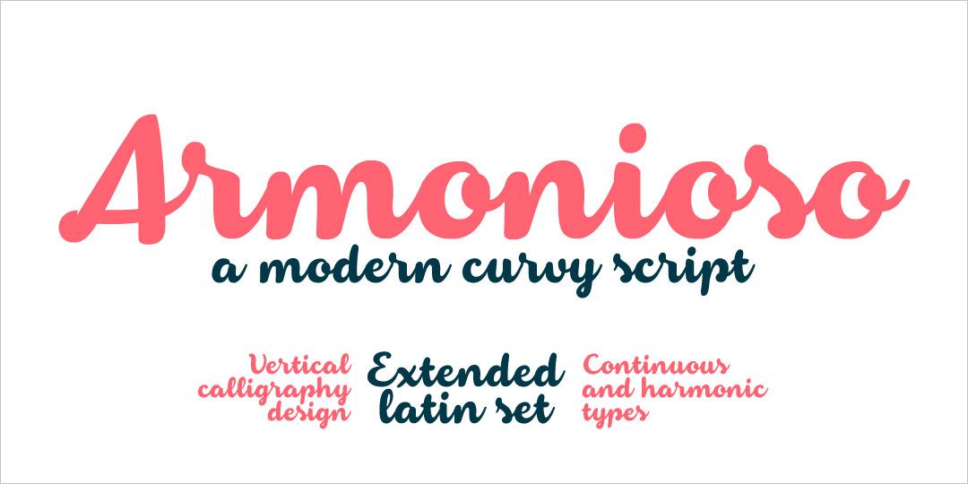 Armonioso Calligraphy Font