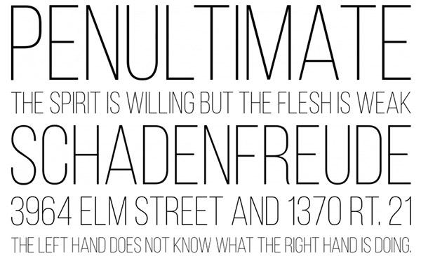 40 Beautiful and Free Thin Fonts