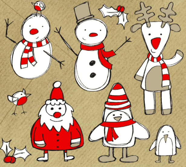 15 Christmas Vector Graphics to Download for Free 04