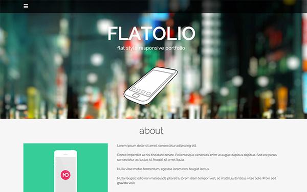 Flatolio Portfolio Free Responsive WordPress Theme