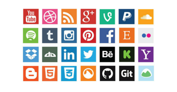 50+ High Quality Free Social Media Icons