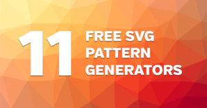 Free SVG Vector Pattern Generators