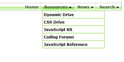 Chrome CSS Drop Down Menu