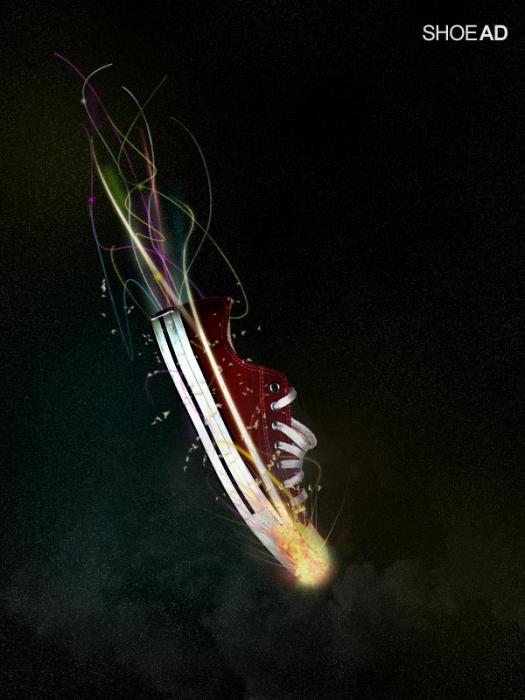 Design a Stunning Sneaker Advert