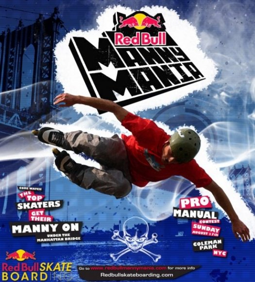 Red Bull Manny Mania Poster Design