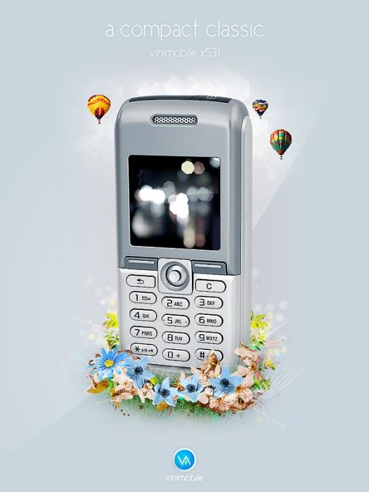Create a Mobile Phone Ad Design