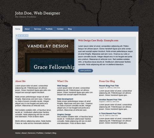 Design a Portfolio Site with a Textured Background