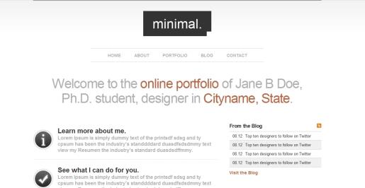 Minimal HTML Portfolio Site