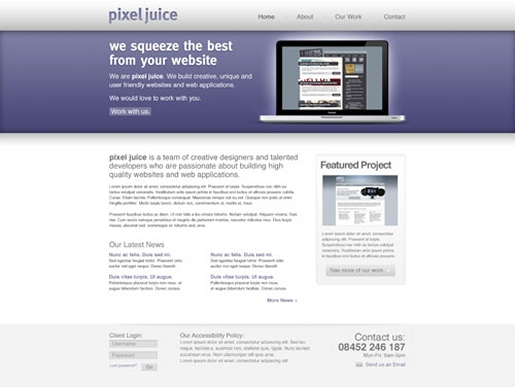 Create a Clean Modern Website Design in Photoshop