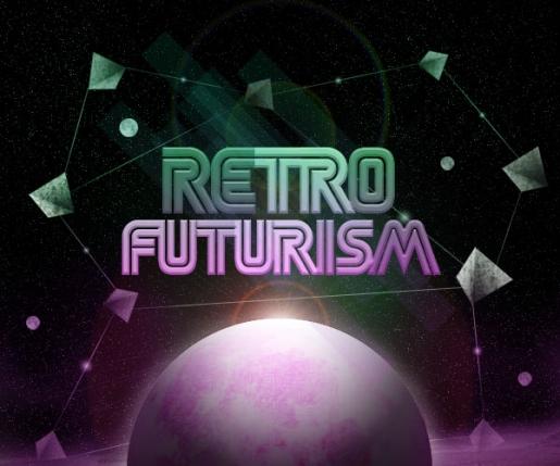 Design a Retro Futurism Space Scene