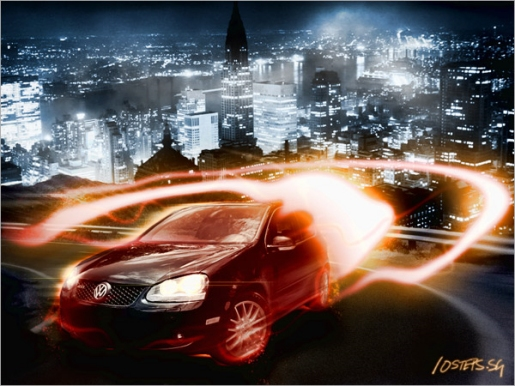 Create a Dramatic Car Speeding Scene