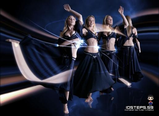 Create Energy Lines Around a Dancer