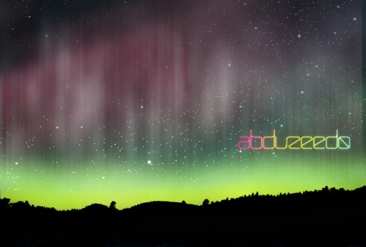 Aurora Borealis Wallpaper in Photoshop