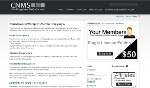 YourMembers WordPress Plugin