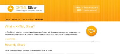 XHTML Slicer