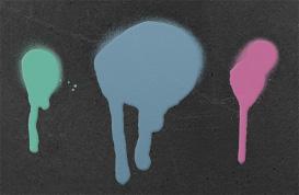 Drippy Spray Paint Brushes
