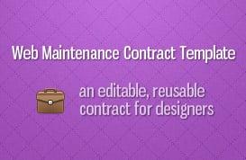 Website Maintenance Contract Template