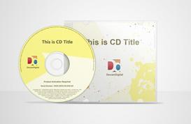 CD Mockup PSD