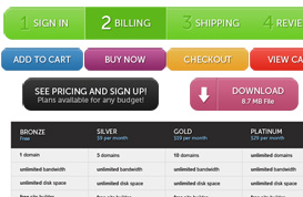 E-Commerce Button and UI Set
