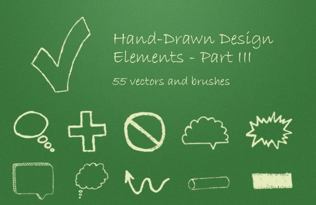 Hand-Drawn Design Elements - Part III