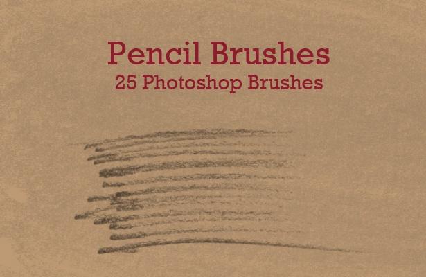 Pencil Photoshop Brushes