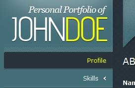 One-Page Portfolio Template