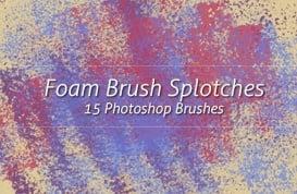 Foam Brush Splotches
