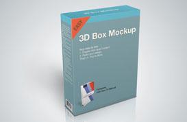 Product Box Mockup PSD