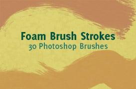 Foam Brush Strokes Photoshop Brushes