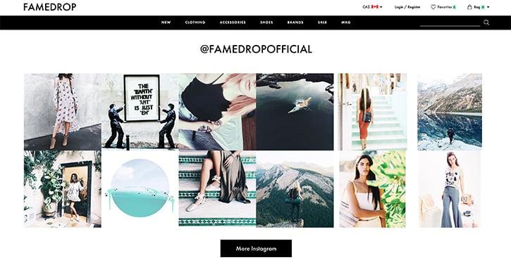 instagram web cross site social embed integrate into promote platforms using imagery striking integration lookbook soldsie ways vandelaydesign