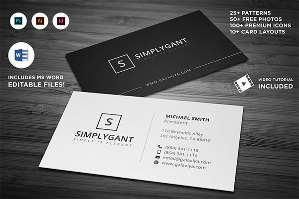 900 Excellent Business Card Templates For Your Own Use