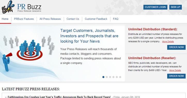 pr buzz press releases