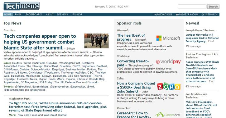Techmeme website