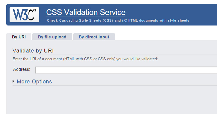 W3C Validator Screen Shot